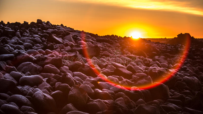 Download Sunset in Iceland stock image. Image of black, iceland - 29250029