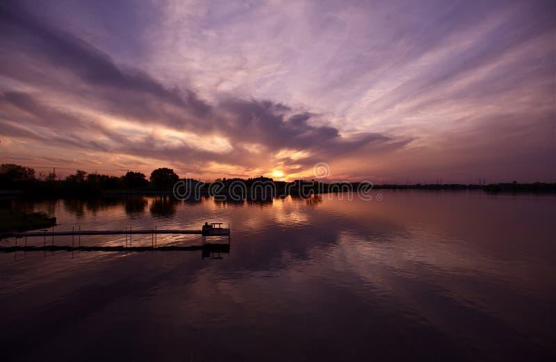 Sunset In Illinois Stock Photography