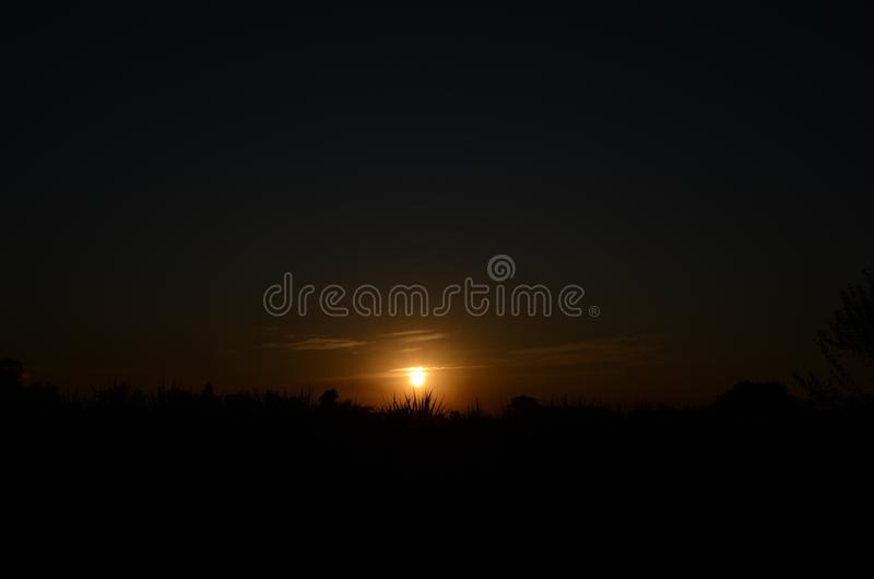 Sunset image taken in the evening dusk royalty free stock image