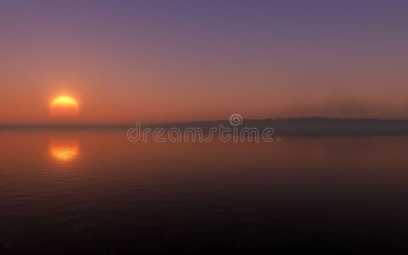 Sunset Island stock image