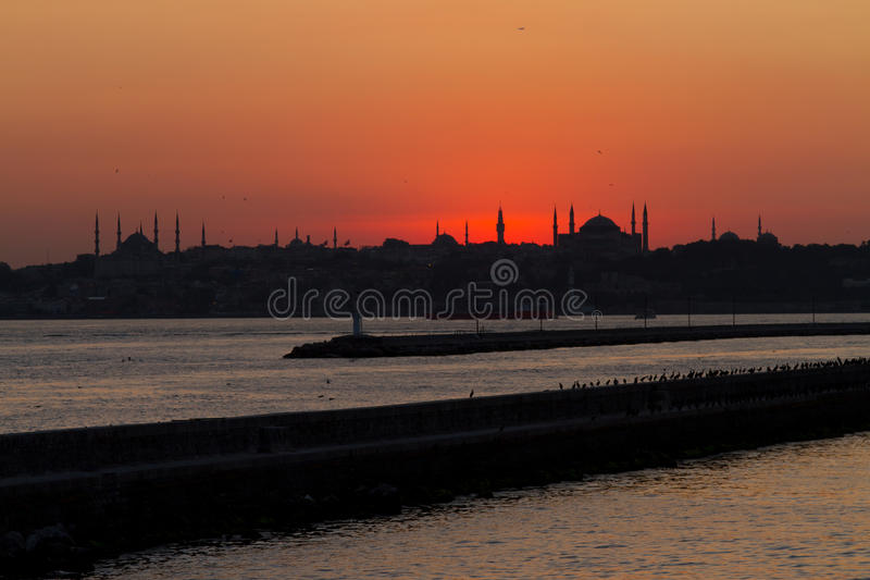 Download Sunset in Istanbul stock image. Image of mosque, dome - 21039367