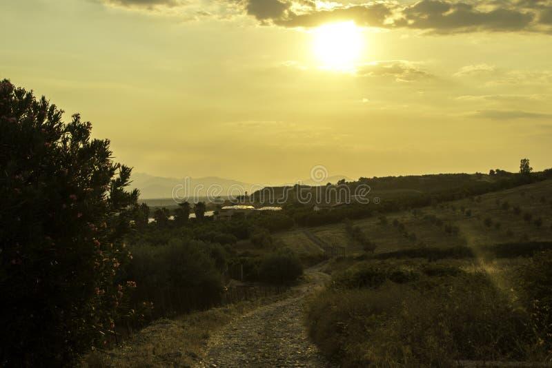 Sunset Italiano imagens de stock