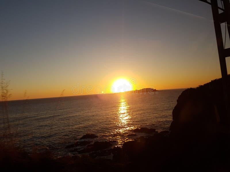 Sunset izaro Bermeo royalty free stock photos