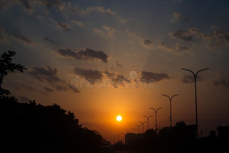 Sunset in Jaipur stock images