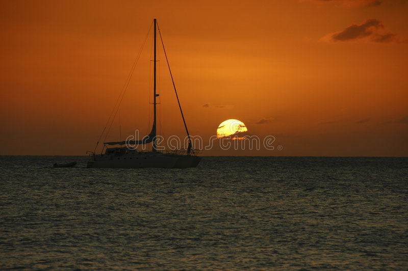 Sunset in Jamaica royalty free stock images