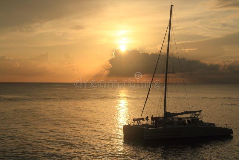 Sunset in Jamaica. Caribbean sea. stock photos