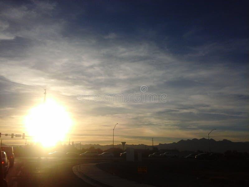 sunset jazdy zdjęcie royalty free