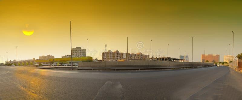 Sunset in Jeddah stock photography