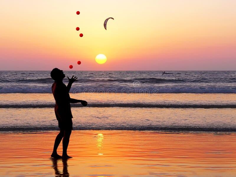 Sunset juggler