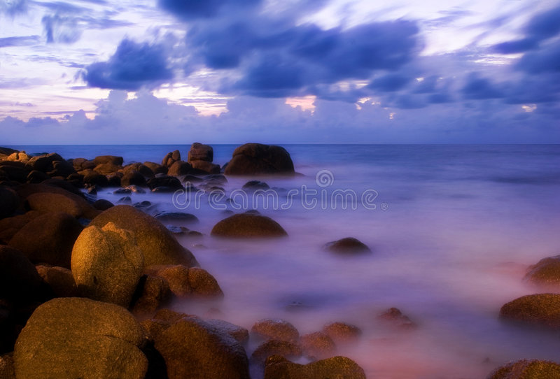 Sunset of Karon-9. Sunset Photografed on Karon beach, Phuket Island, Thailand stock photos