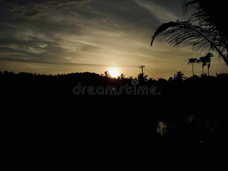 Sunset kerala royalty free stock images