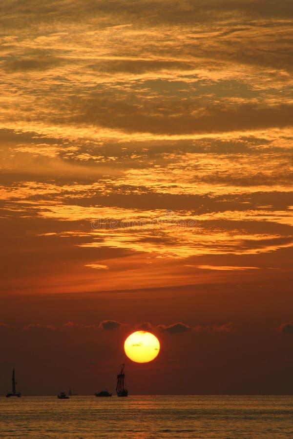 Download Sunset at Key West stock image. Image of orange, sailing - 4254003