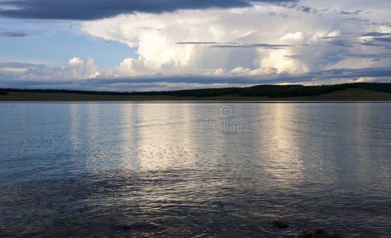 Download Sunset at Khovsgol Lake stock photo. Image of lakes, bright - 36744580