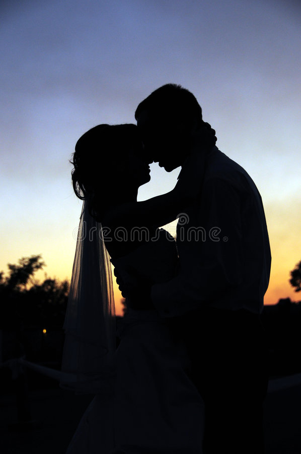 Download Sunset Kiss stock photo. Image of dress, people, woman - 5861446