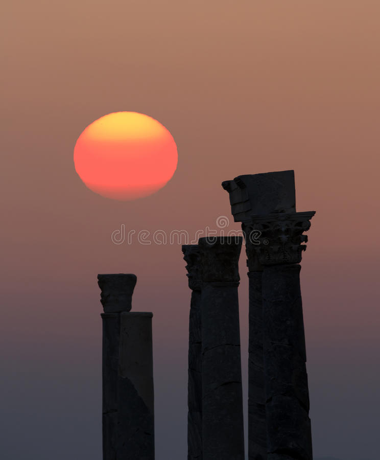 Sunset in Knidos royalty free stock photo