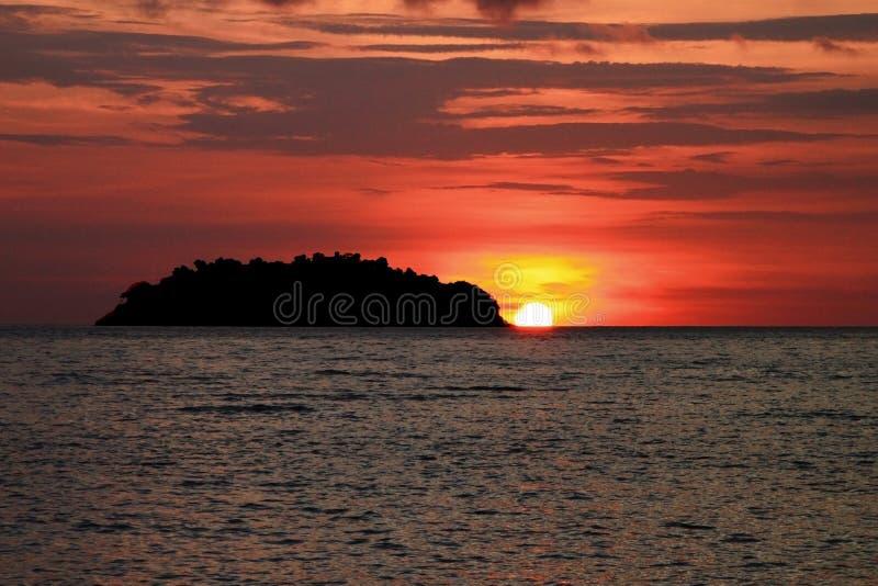 Sunset at Ko Chang Thailand stock image