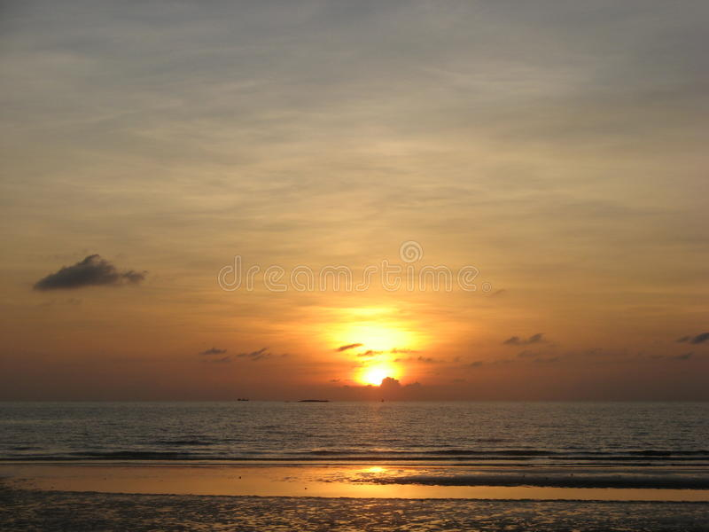 Sunset on Koh Chang. stock photo