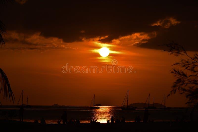 Sunset at Koh Lipe, Satun, Thailand 2019. The sunset at Koh Lipe,  Satun, Thailand in summer 2019 royalty free stock image