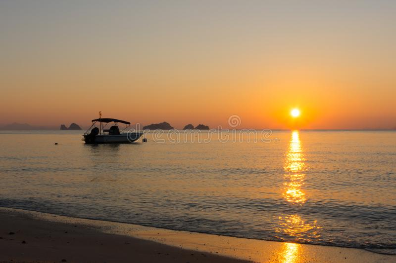 Sunset Koh samui at Ban Taling Ngam Beach. Must do on the island is to see beautiful sunset all along west site of koh Samui Thailand royalty free stock photography