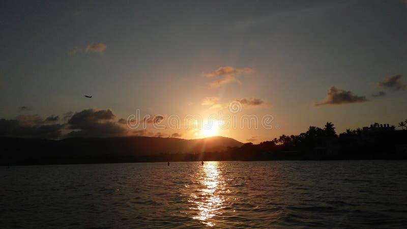 Sunset on Koh Samui Island, Thailand. stock photos