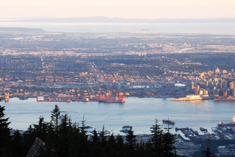 sunset komunalnych pejzażu Vancouver zdjęcie stock