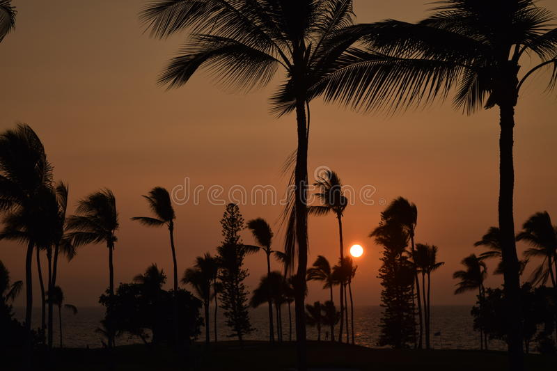 Sunset in Kona 1. Sunset in the coastal town of Kona, located on the Big Island of Hawaii, is an breathtaking experience royalty free stock image