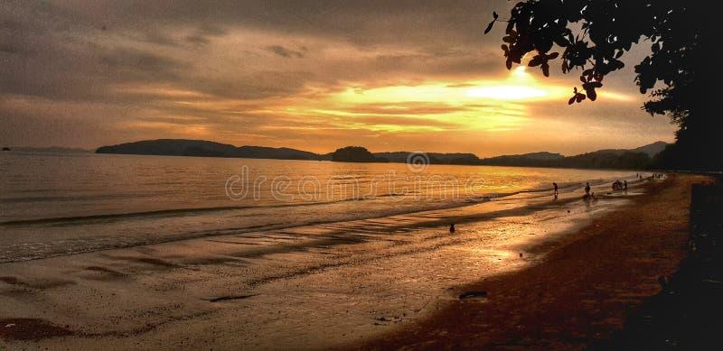 Sunset. Krabhi, nature, beach, creation royalty free stock photos