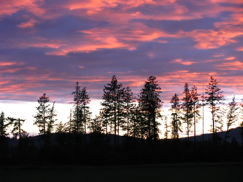 sunset krajobrazu obraz stock