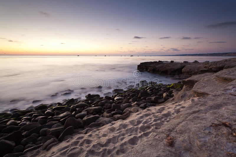 Download Sunset at La Jolla Cove stock photo. Image of diego, rocks - 20451188