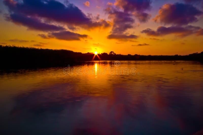 Sunset at the Laguna II royalty free stock photography
