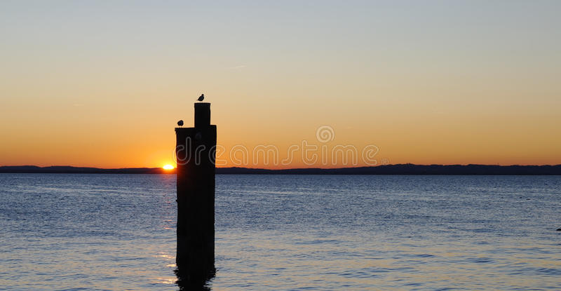 Sunset At The Lake Royalty Free Stock Photo