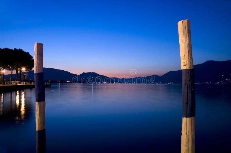 Sunset on the lake royalty free stock photos