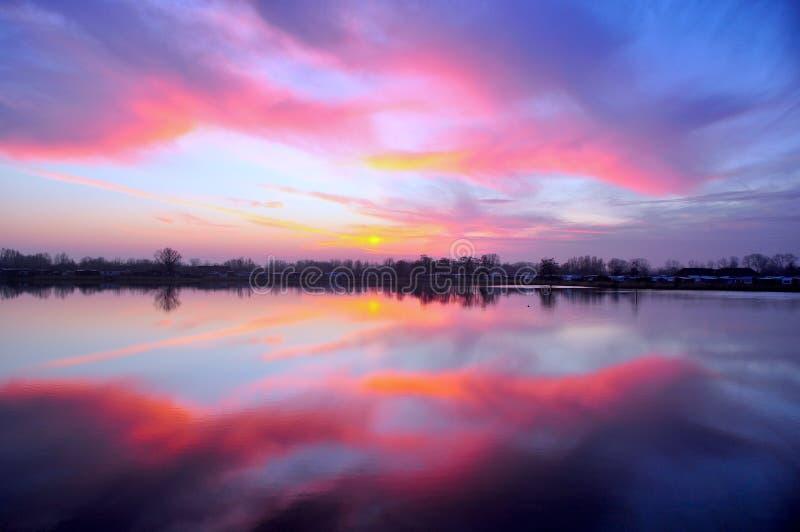 Sunset On Lake Free Public Domain Cc0 Image