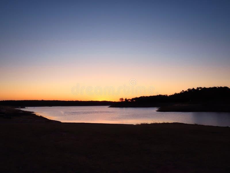 Sunset At Lake Boondooma stock images