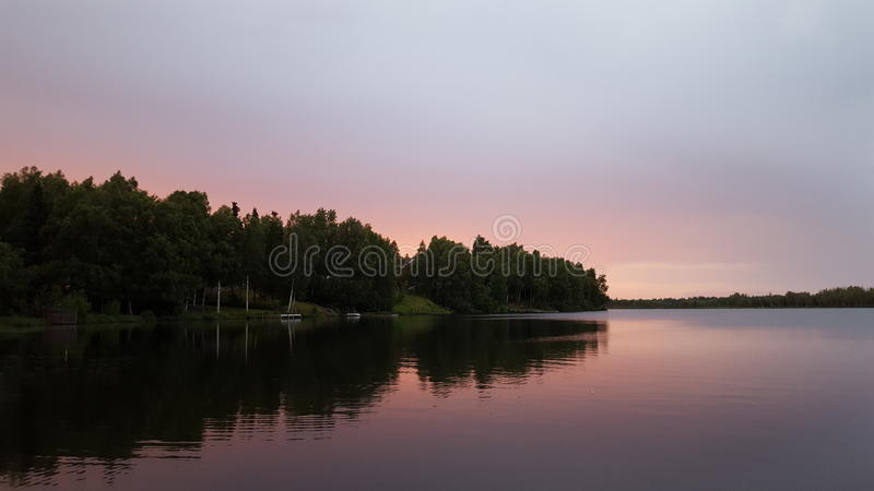 Sunset lake landscape view beautiful royalty free stock image