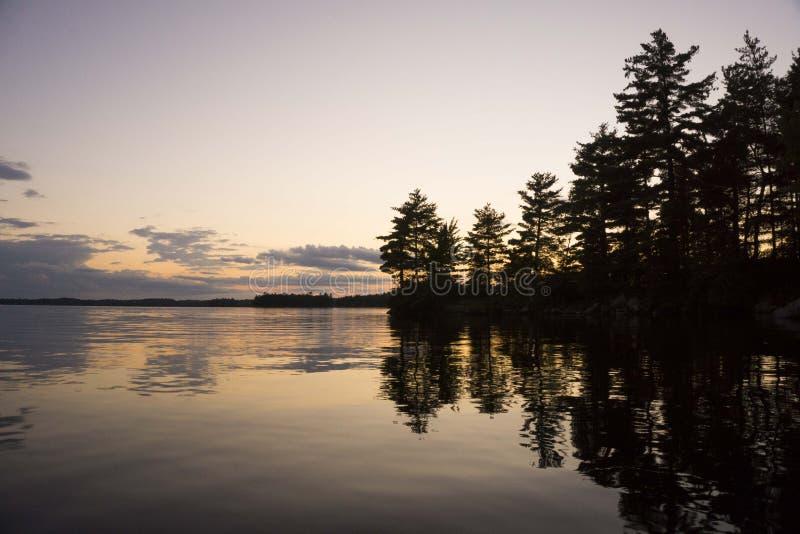 Sunset on a Lake stock photo