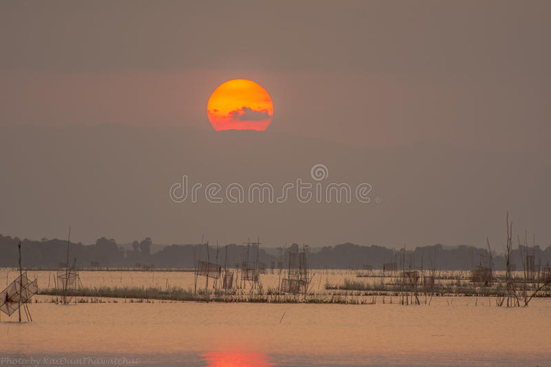 Sunset at Lake . royalty free stock photo