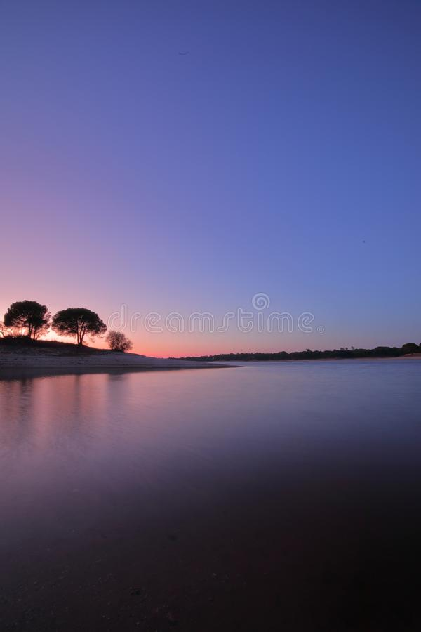 Sunset at the lake. Water, night, love, beautiful, sunsetlovers, longexposure stock image