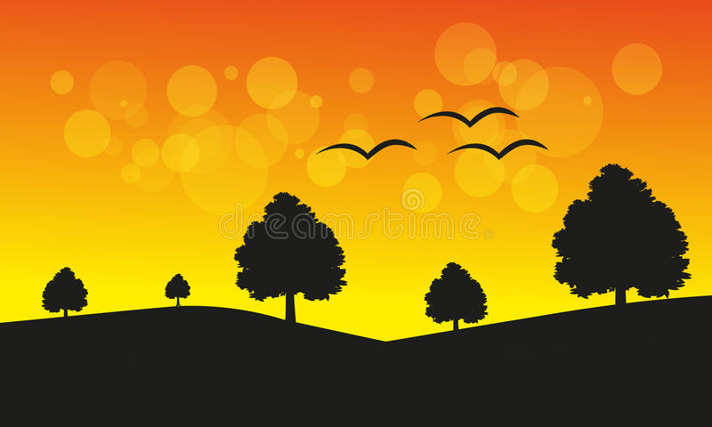 Sunset Landscape stock photography