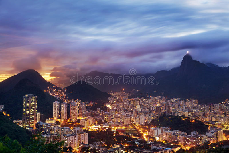 Sunset Landscape of Rio de Janeiro royalty free stock photography