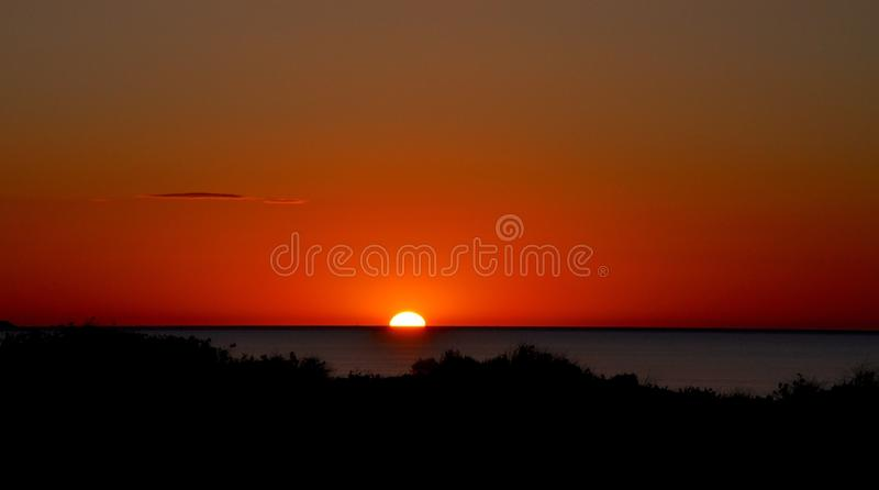 Sunset Lanscape at Coogee Beach: Western Australia stock photo
