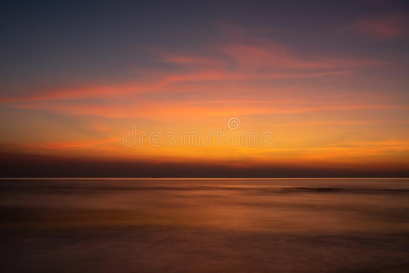 Sunset of last summer day captured on Baltic Sea shore. Sunset of last summer day captured on Baltic Sea shore, near Klaipeda, Lithuania stock photos