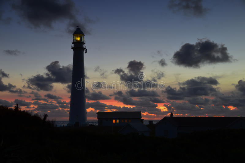 Sunset At The Lighthouse royalty free stock photography
