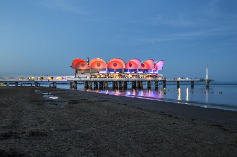 Sunset At Lignano Sabbiadoro Editorial Photo - Image of italy ...