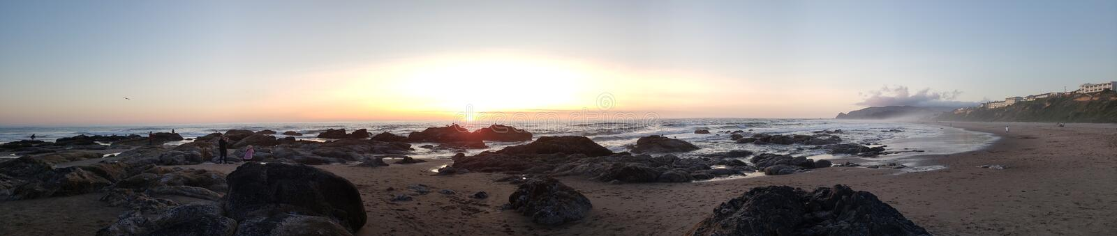 Sunset lincoln city, oregon. Sunset low tide 15th street lincoln city stock photos