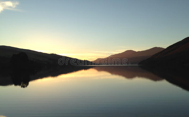 Sunset on the Loch stock photography