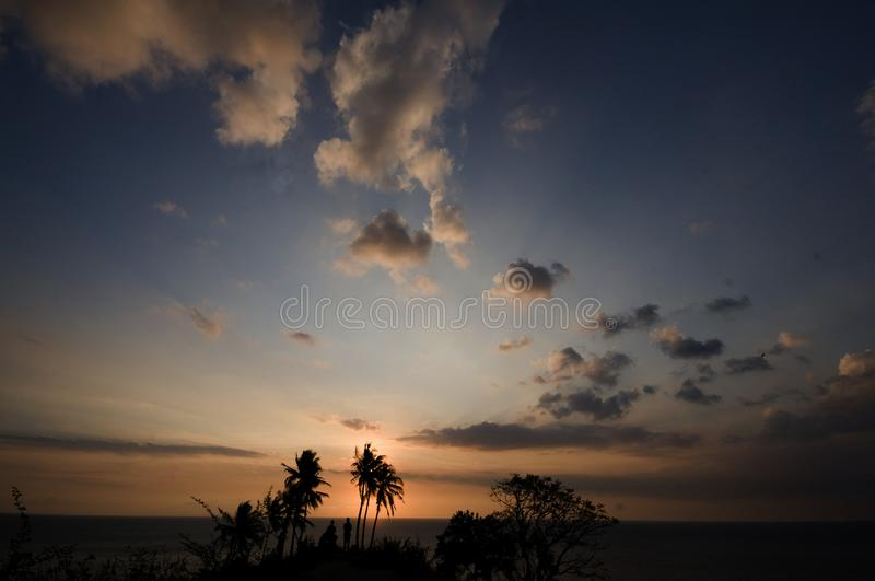 A Sunset in Lombok Island Indonesia stock photos