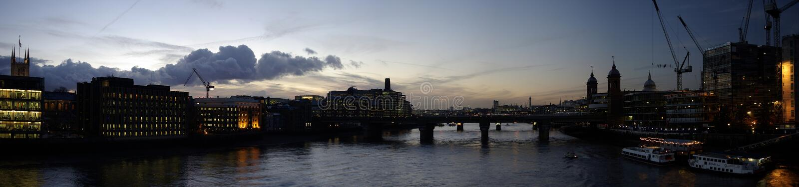 Download Sunset From The London Bridge Stock Image - Image: 7359887