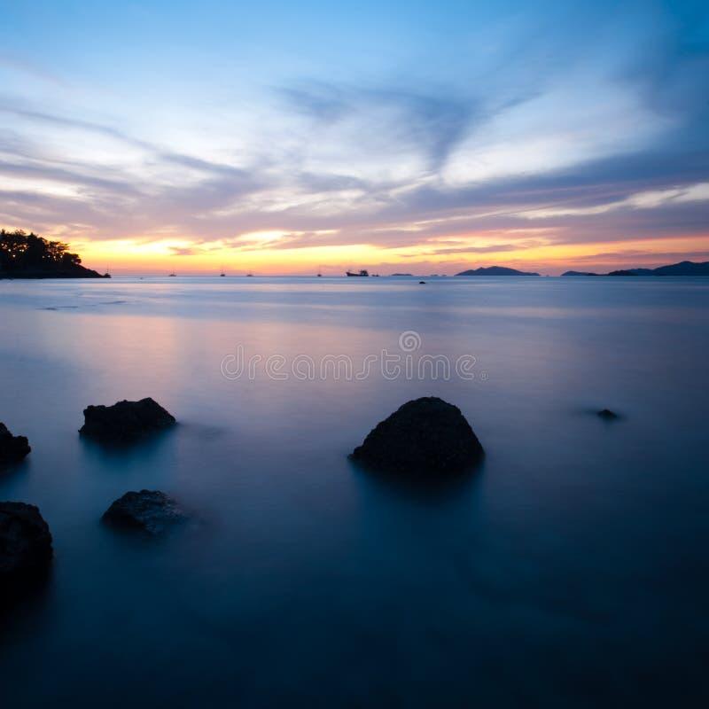 Download Sunset Long Exposure Ocean Rocks Stock Photo - Image: 17364378