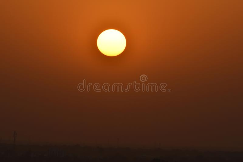 Sunset look. Sun set Time. use image in Background or as wallpaper royalty free stock photos